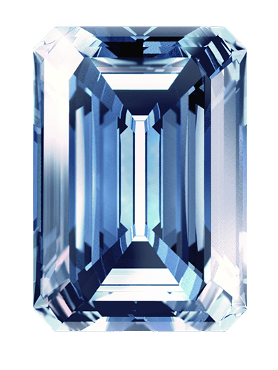 blue colour cremation diamonds
